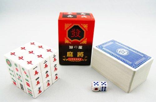 カード麻雀 (サイコロ付き) と 麻雀牌柄 ルービックキューブ のセット 景品用にも! 【 おもしろおもちゃ 】