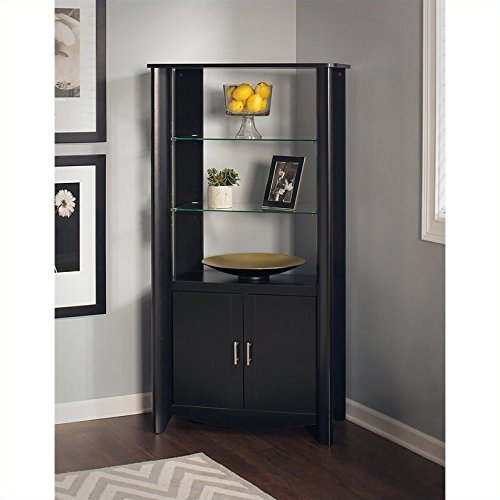 Storage Curio Cabinet - Bush Furniture Aero Tall Library Storage Cabinet with Doors