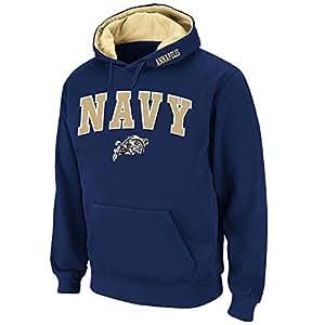 Mens NCAA Navy Midshipmen Pull-over Hoodie (Team Color) - XL