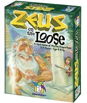 Zeus on the Loose with FREE Deck of Playing Cards by Gamewright
