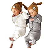 Baby Gifts,Toddler Baby Boys Girls Long Sleeve Solid Tops+Pants Pajamas Sleepwear Outfits Yellow