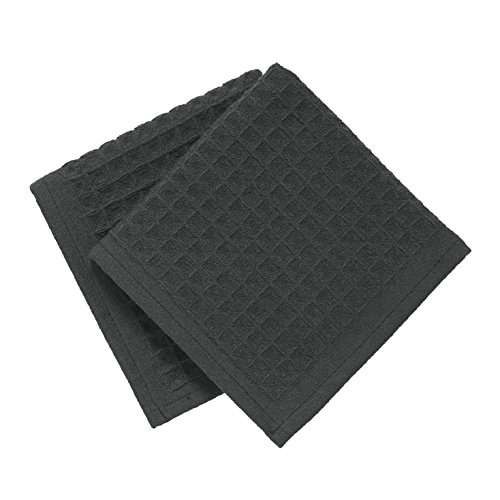 - Ritz TechStyle Microfiber Waffle Dish Cloths (Set of 2), Charcoal