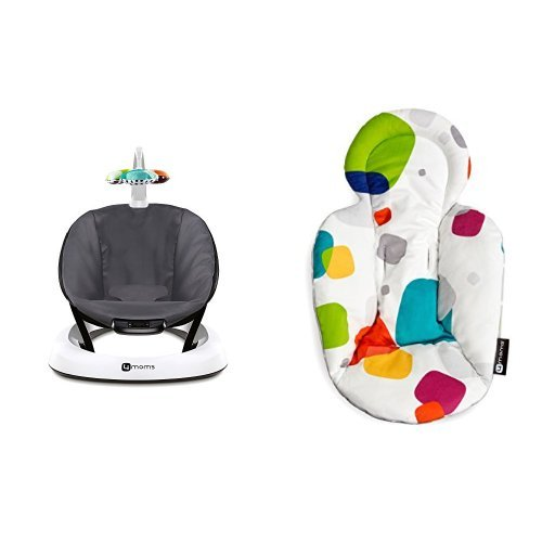 4moms Dark Grey Classic bounceRoo, Bouncer Seat by 4moms