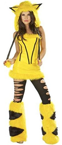 Cute Pokemon Costume Cosplay (Free, Pikachu) (Halloween Costume Ideas With Glasses)
