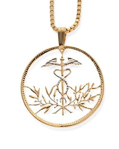 (Medical Emblem Pendant, Hand cut Medical Pendant, 1 1/8