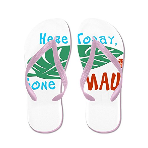 CafePress Here Today Gone To Maui - Flip Flops, Funny Thong Sandals, Beach Sandals Pink