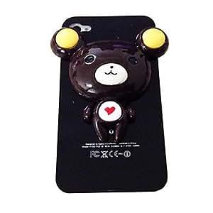 JOE Punk Love Pattern Bear Plastic Hard Case for iPhone 4/4S
