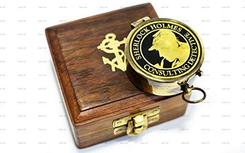 Antique Brass Art (Sailor's Art Antique Brass Sherlock Holmes Compass 2