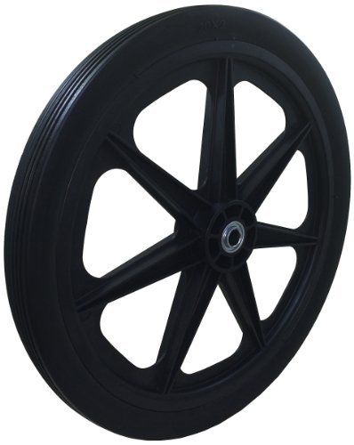 "Marathon 20x2.0"" Flat Free Cart Tire on Plastic Rim, 3/4"" Bearing"