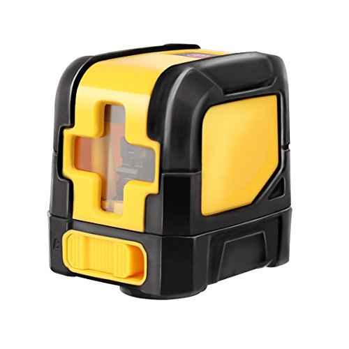 Mini Style Self-Leveling Laser Level Cross Line Laser With Red Light Source & Adjustable Mounting Clamp