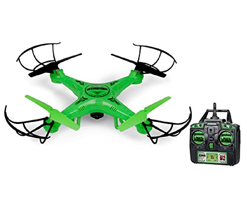 World Tech Toys 2.4Ghz Striker Glow-in-The-Dark 4.5 Channel RC Spy Drone