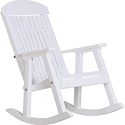 Attrayant Amazon.com : LuxCraft Classic Traditional Recycled Plastic Rocking Chair :  Garden U0026 Outdoor
