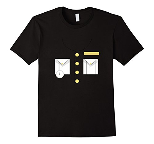 Mens Boat Captain Uniform Costume T-Shirt | Halloween Shirt XL (Love Boat Halloween Costumes)