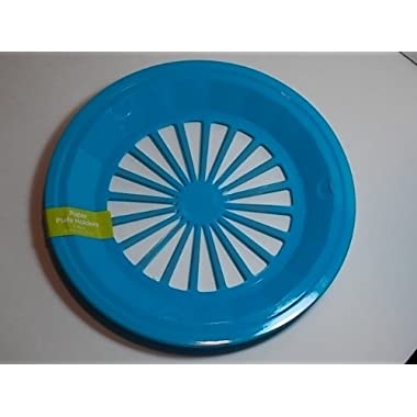 Plastic Paper Plate Holders, Set of 4 (Blue Green)