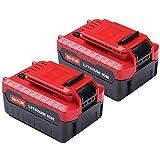 2Pack 6.0Ah 20V for Porter Cable Lithium Battery, High Capacity Replacement Battery for Porter Cable PCC685L PCC682L PCC685LP