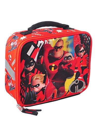 45d491cf19f Accessory Innovations Incredibles Backpack Lunchbox Combo with Two Mesh  Pockets