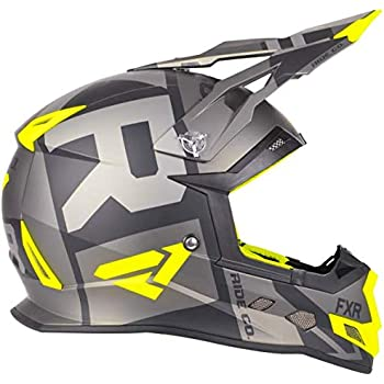 51c28115 FXR Racing Boost Clutch Snowmobile Helmet (Black/Hi-Vis/Charcoal Matte,  Medium)