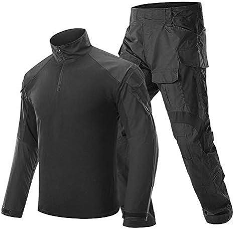 SGOYH Traje de Camuflaje de Uniforme Transpirable de Combate Transpirable Caza Paintball Disparo BDU Tactical Airsoft Camisas y Pantalones de Manga Larga