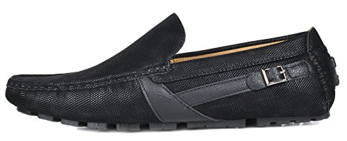 Penny Faux Leather MARC BRUNO Driving Loafers YORK Boat black 02 Shoes Men's NEW nxIqaq0