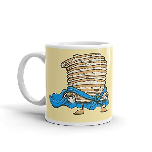 Captain Pancake. 11 Oz Ceramic Coffee Mugs With C-shape Handle, Comfortable To Hold. 11 Oz Mugs Makes The Perfect Gift For Everyone