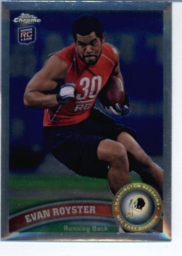 2011 Topps Chrome Football Card #TC82 Evan Royster RC - Washington Redskins (RC - Rookie Card) NFL Trading Card ()