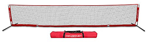 PowerNet Soccer Tennis 18 x 3 Net | Portable Instant | Indoor Outdoor | Metal Collapsible Base Weighted | Durable Vertical Bow Posts | Quick Setup Easy Folding Storage | - Net 18' Soccer