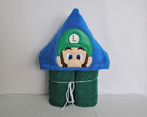 - Green Super Game Guy Hooded Bath Towel - Baby, Child, Tween