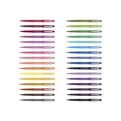 Paper Mate Flair Felt Tip Pens, Medium Point (0.7mm), Assorted Colors, 16 Count by Paper Mate (Image #8)