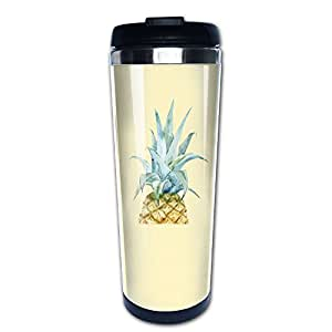 One Pineapple Unisex Diversified Thermos Cup Coffee Mugs Water Tea Homeusage Outdoor Usage Stainless Steel Cups