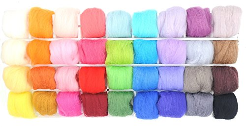 楽MoMo 羊毛フェルト 36色 セット 手芸 ハンドクラフト DIY 素材 (c. 約3g)の商品画像
