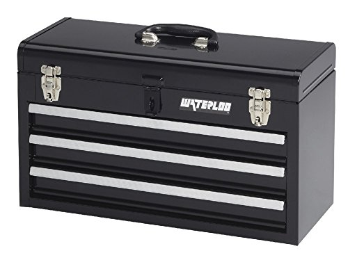 Waterloo Portable Series 3-Drawer Metal Tool Chest, Black Finish, 20'' W by Waterloo