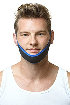 Sleep Well Anti-Snore Chin Strap Reduce Snoring Device Breathing Jaw Strap, Straight shape by GREENHOME