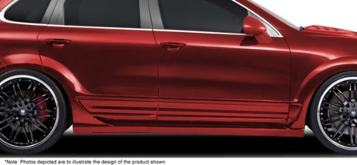 2011-2013 Porsche Cayenne AF-1 Wide Body Side Skirts (PUR-RIM) - 2 Piece