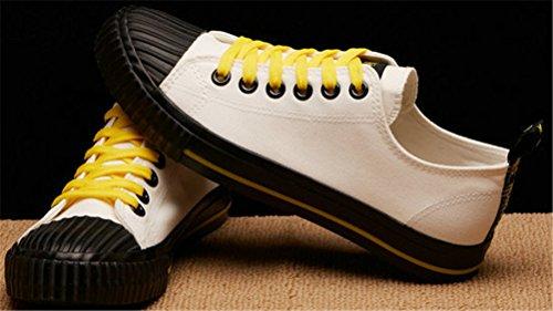 Scarpe Di Tela Satuki Per Uomo, Sneakers Moda, Casual High Top Classico Stringate Morbide Scarpe Sportive Leggere Atletiche Piatte Bianche