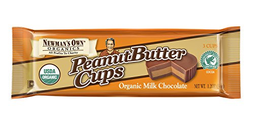 Newman's Own Milk Chocolate Cups, Peanut Butter, 1.2-Ounce Cups (Pack of 16)