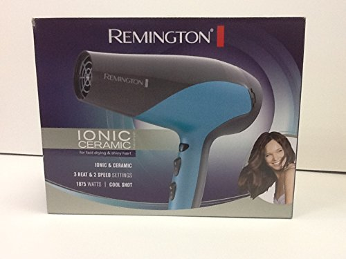 Remington D-3190 Ionic-Ceramic 1875 Watts Hair Dryer, Teal Blue Grey