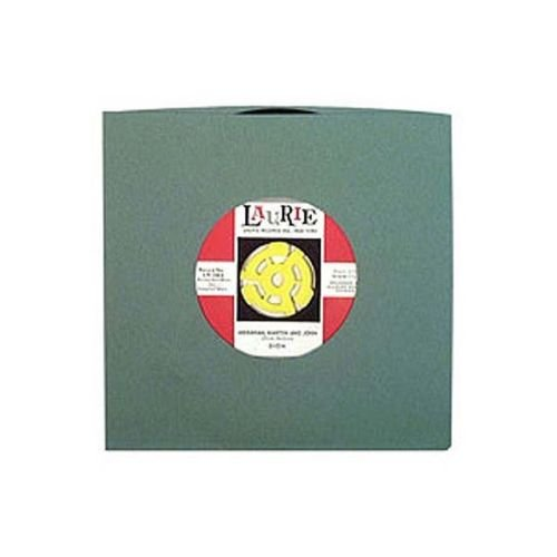 Sleeve Record Capitol - 100-pack of 7 Antique Green Old Style Paper 45rpm Sleeves Vinyl Records / 45 RPM Single Singles