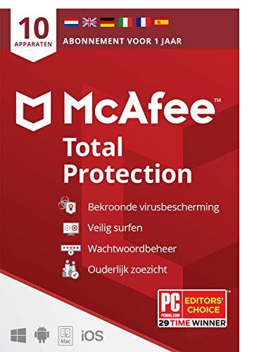 McAfee Total Protection 2021  10 apparaten  1 jaar   antivirussoftware, internetbeveiliging, wachtwoordbeheer, Mobile…