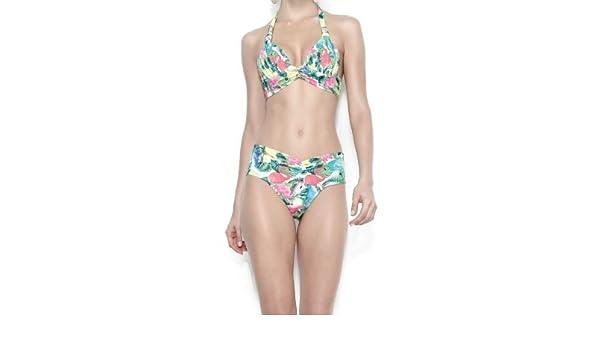f366a5c65efef3 Amazon.com : Verao Agora Printed Draped Bikini : Everything Else