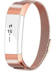 AdePoy Replacement Straps Bands Compatible for Fitbit Alta and Alta HR, Milanese Strap Wristbands Small Large Women Men