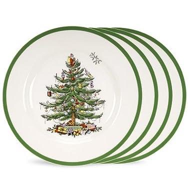 Spode Christmas Tree Set of 4 Dinner Plates