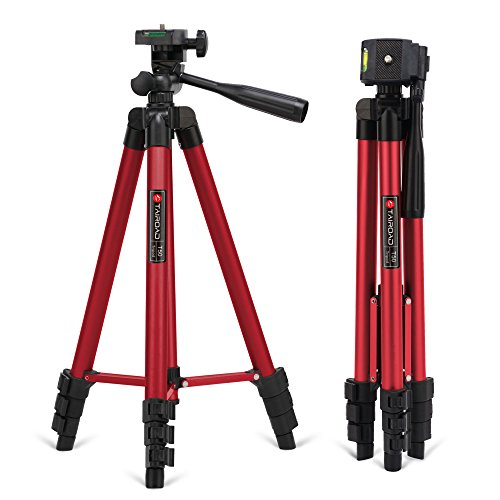 Price comparison product image Tairoad 50 Inch Light Weight Portable Travel Tripod for Fishing Light,  Mini Projector,  Security Camera,  Tiny Camera Telescope with Carrying bag(red)