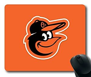 MLB Baltimore Orioles on Orange Rectangle Mouse Pad by eeMuse
