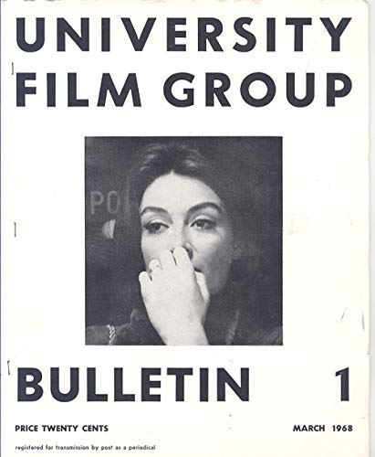 University Film Group Bulletin #1 Melbourne, Australia March 1968 (Anouk Aimee on Cover)