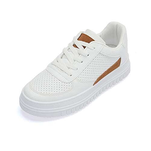 WFCAYDHN Women's Shoes Little White Shoes Student Frende Artificial PU Size Casual Shoes Sports Shoes Fashion Thirty-seven