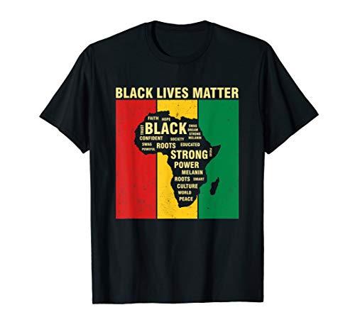 American African Black Lives Matter Pride Africa Map T-Shirt (T-shirt Map Africa)