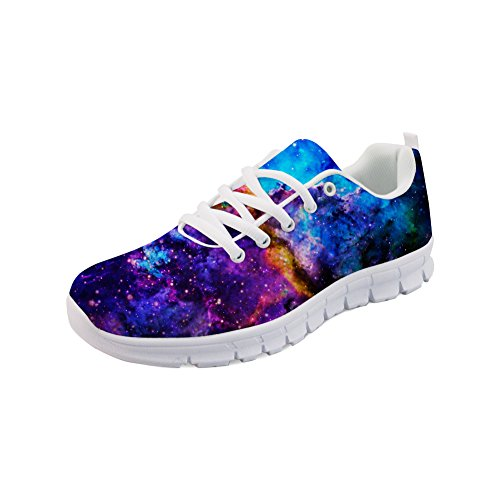 Showudesigns Fashion Lace up Sneaker Women Running Sport Shoes Galaxy Printing Color 4 srSiHnrsB