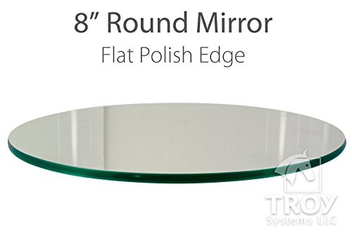 8 Inch Round Mirror: 1/4 Inch Thick, Flat Polish Edge (10 ea. in 1 - Mirror Flat