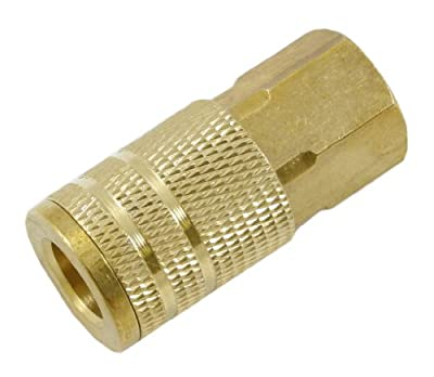 Forney 75244 Air Fitting Coupler Industrial Milton Style, 1/4-Inch-by-3/8-Inch Female NPT