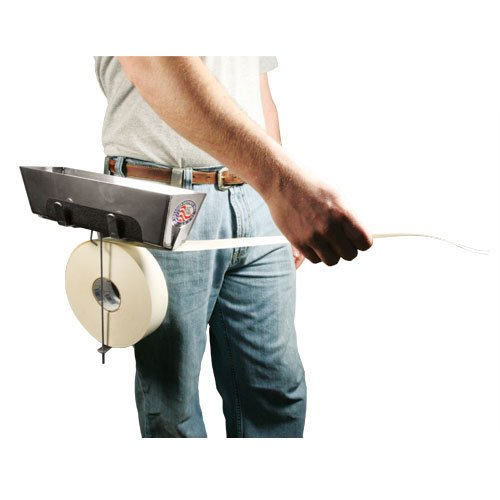 drywall+tools Products : Drywall Mud Pan and Tape Holder - Hooks to Belt for Hands-Free Taping